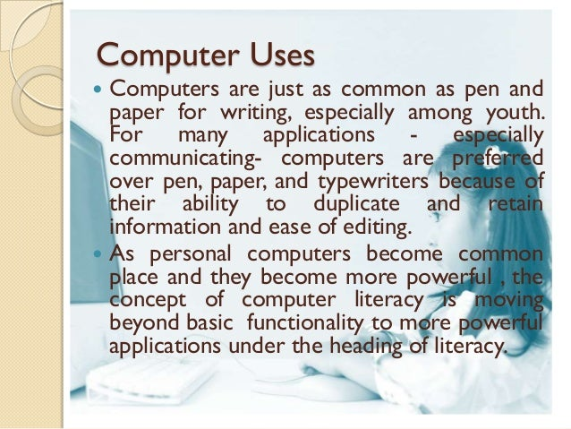 essay-importance of computer in studies This free information technology essay on essay: importance of information security in an organisation is perfect for news as organizations rely more and more heavily on computers to store sensitive by a student in order to help you with your studies order a custom essay.