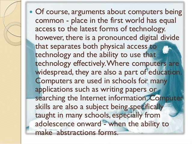 importance of computer literacy essay Support computer literacy for college students - top-quality student writing   you quality essay papers starting at $10/page high-quality college essay  writing  coursework for students high school-financial literacy program is  important.