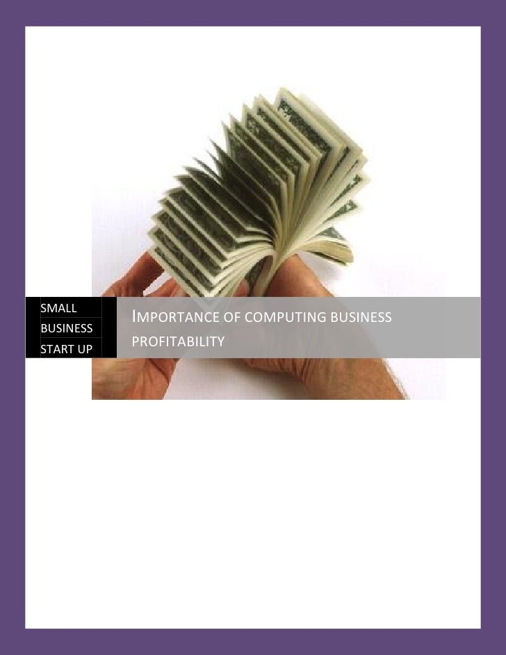 SMALL           IMPORTANCE OF COMPUTING BUSINESSBUSINESSSTART UP           PROFITABILITY