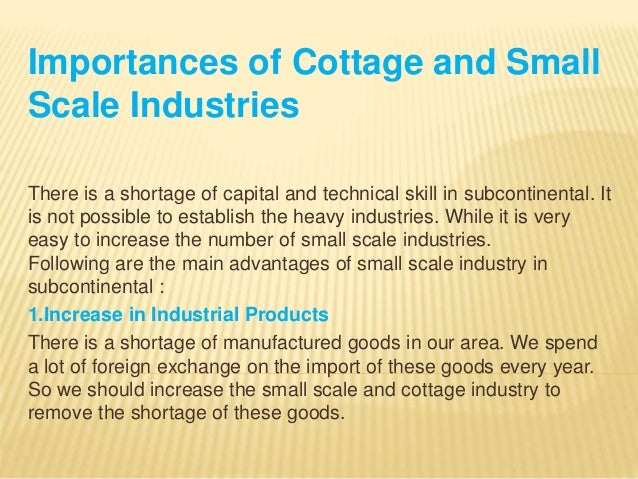 cottage and small industries