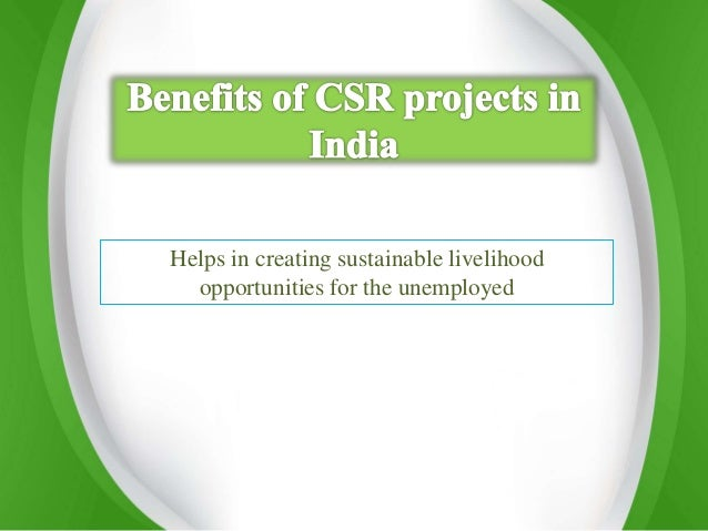 importance of csr in india pdf