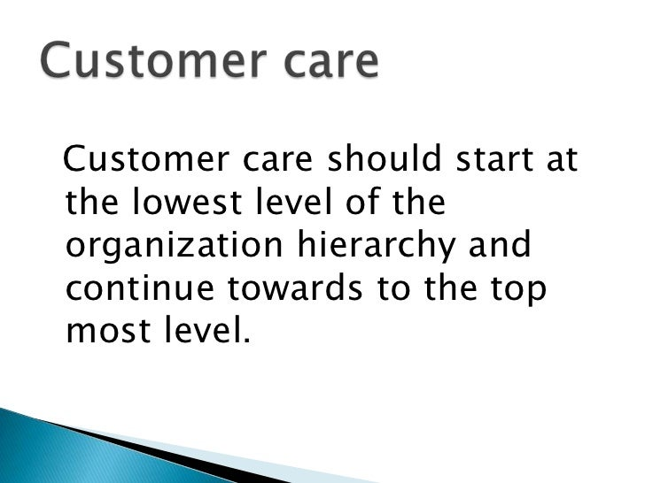 importance of customer care pdf