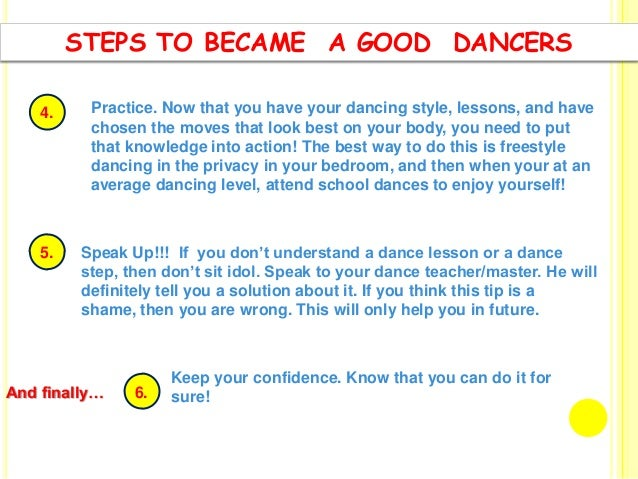 importance of dance Body awareness and limitations: an important aspect of performing safely is having a good understanding and feeling of my own bodyit is being aware of my own strengths and weaknesses, my body type and individual preferred style and dancing accordingly.