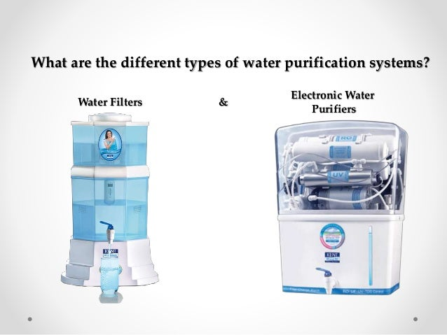 Importance of different types of water purifiers for Different type of water