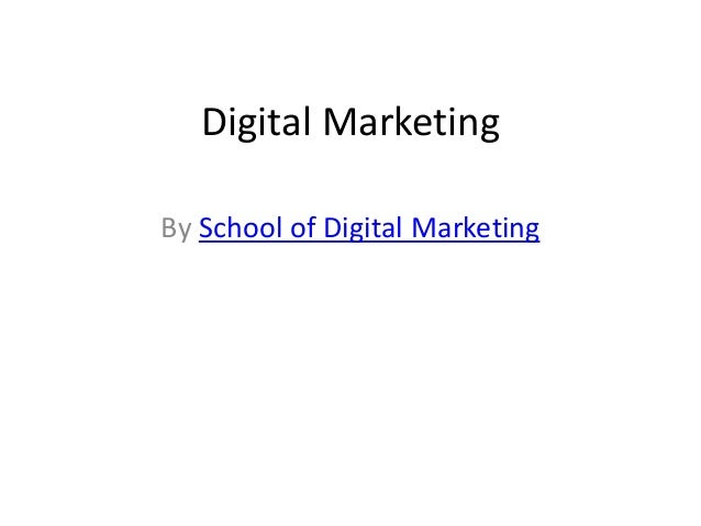 Digital Marketing By School of Digital Marketing