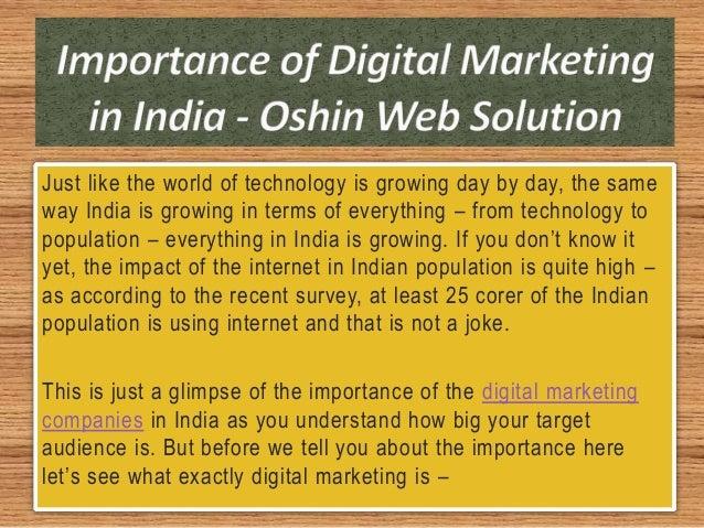 Importance of Digital Marketing in India - Oshin Web Solution Slide 2