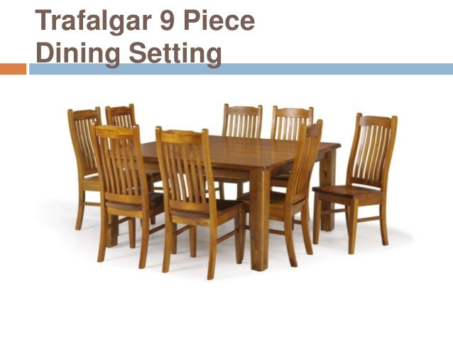 Trafalgar 9 PieceDining Setting ...  sc 1 st  SlideShare & Importance of dining room table in your home