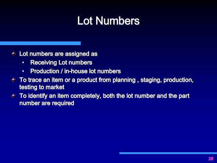 importance of documentation for gmp compliance On lot number definition