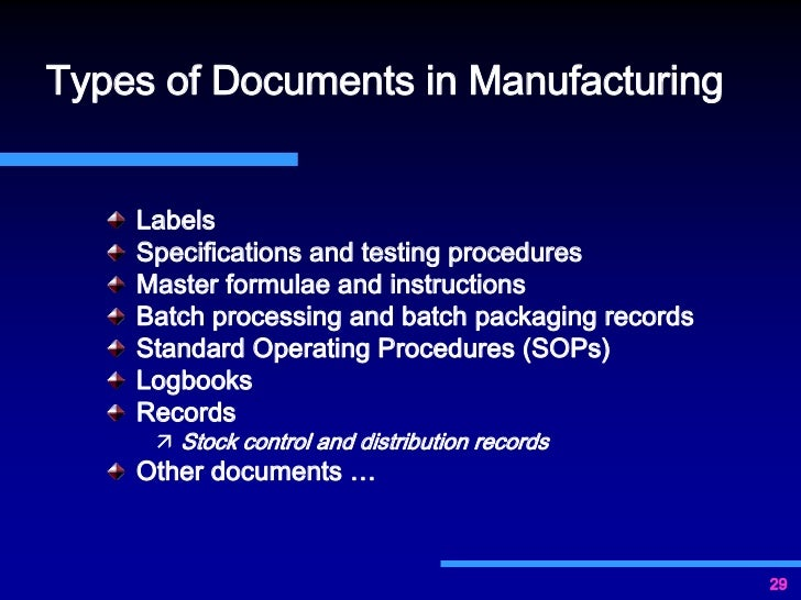 Importance Of Documentation For Gmp Compliance