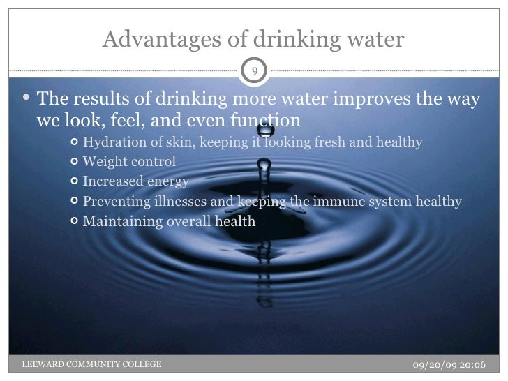 advantages of water
