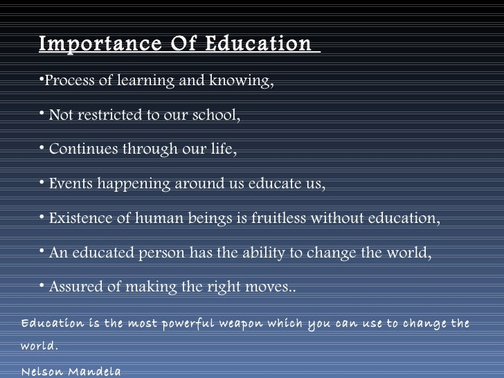 importance of education  confidence 3 importance of education