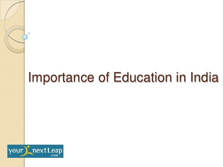 Importance of Education in India