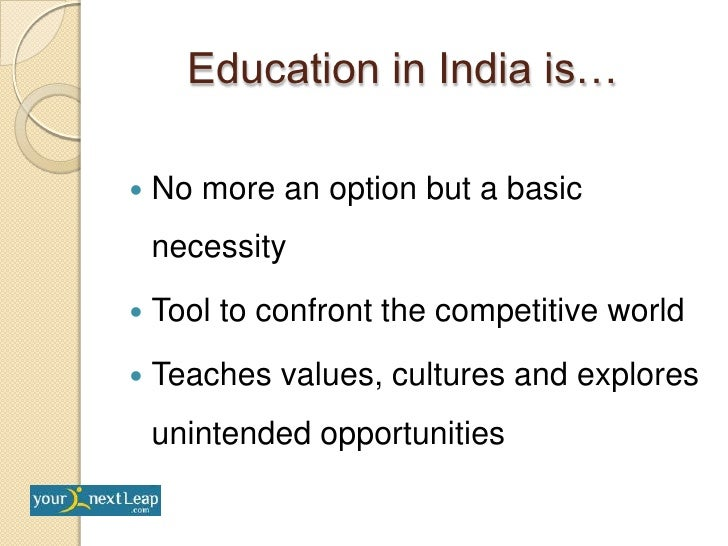 importance of english in indian education There are many resources for learning english for business, of which ectv  stands head and shoulders above the rest as a well-designed,.
