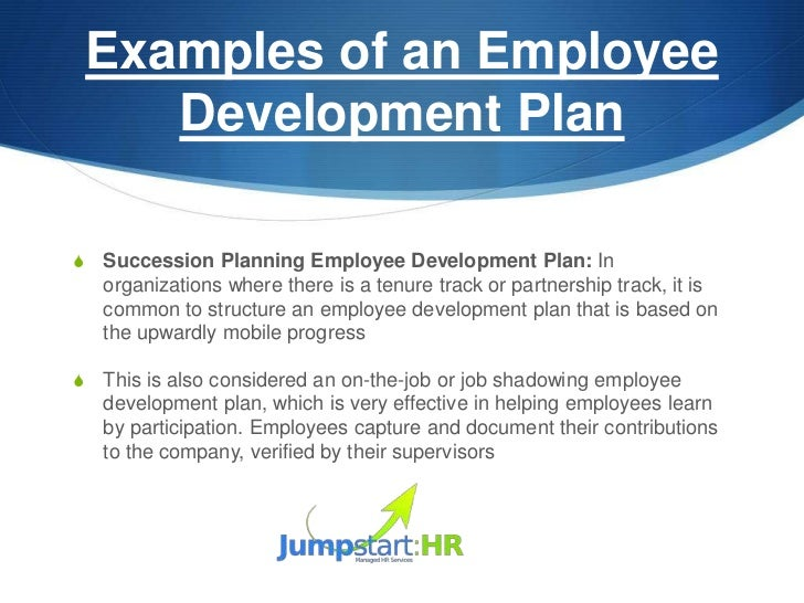 Examples Of An Employee Development PlanS ...  Employee Development Plan Template