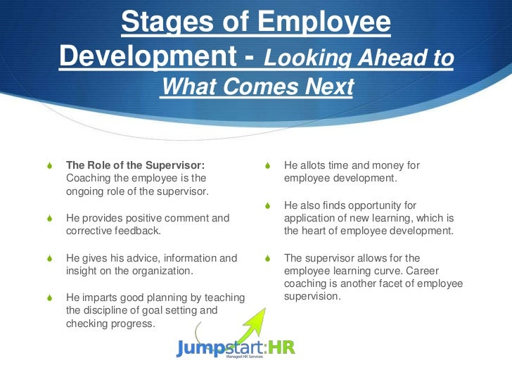 how to write a development plan for an employee