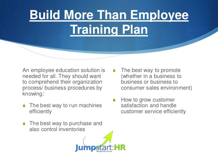 3. Build More Than Employee ...  Employee Development Plan Template