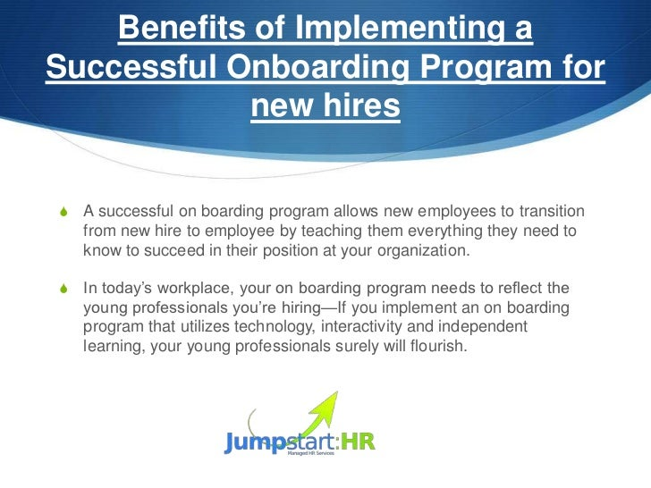 One Day Seminars Are Good For; 31. Benefits Of Implementing ASuccessful  Onboarding Program ...