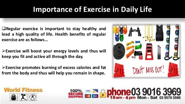 importance of exercise in our daily life