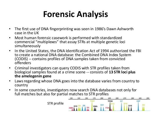 an overview of the dna and forensics in the criminal cases of the united states Inclusion in california law review by an authorized administrator of berkeley   accounts of powerful new forensic technologies such as dna  programs in  criminalistics or forensic science in the united states, and only two in the world.