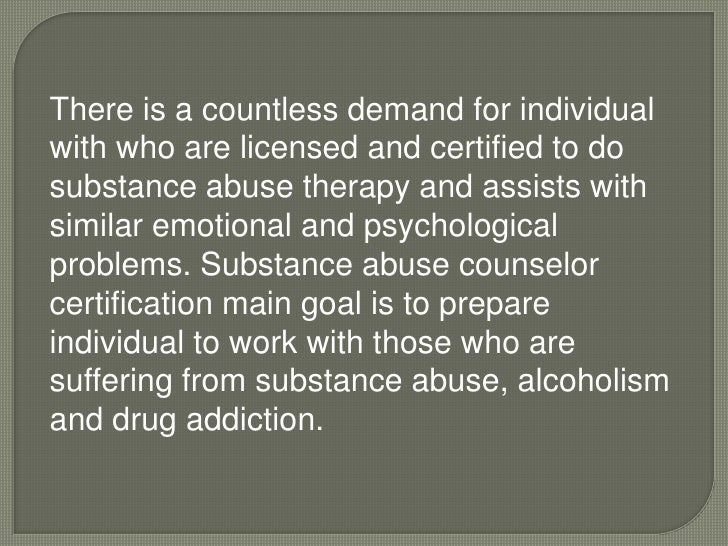 Importance of getting a substance abuse counselor certification