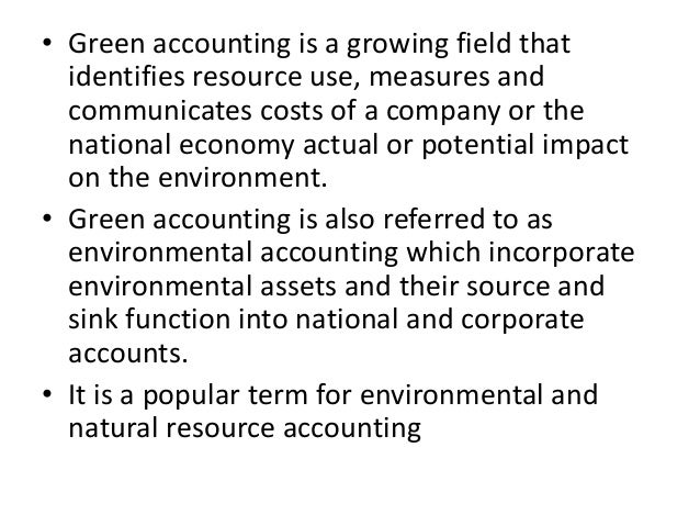 steps of green accounting