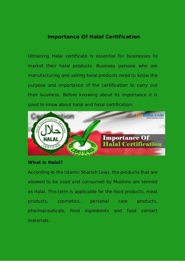 Importance of halal certification