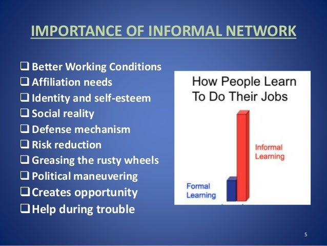 Importance Of Informal Networks In Workplace
