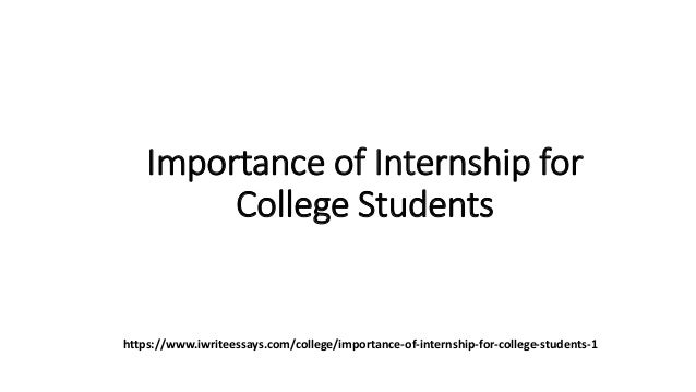 Importance of internship for college students