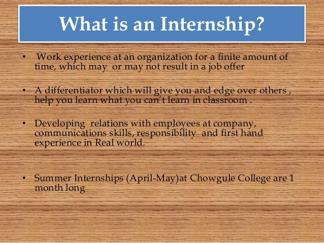 internships for college students The samhsa internship program introduces students to the important the samhsa internship program was specifically designed to equip college students from.