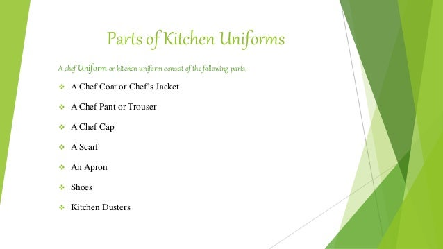 importance of kitchen uniform