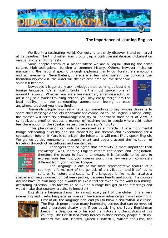 importance of english in the world market Reasons why learning english is so important and of countries i would like to say english is the prominent language of the world in the global market.