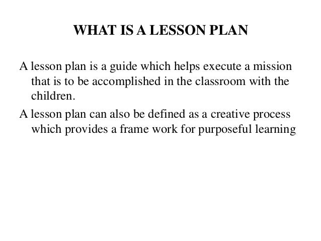 Marvelous WHAT IS A LESSON PLAN ... Great Pictures