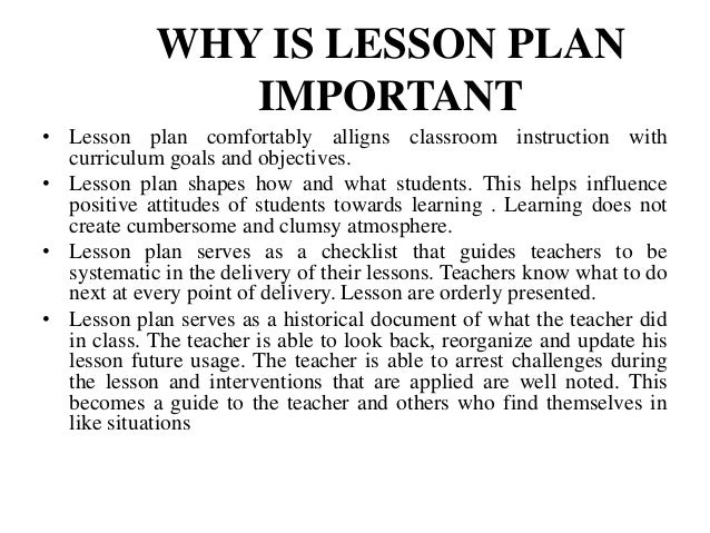 Perfect ... Purposeful Learning; 4. WHY IS LESSON PLAN IMPORTANT U2022 Lesson Plan  Comfortably ... Amazing Design
