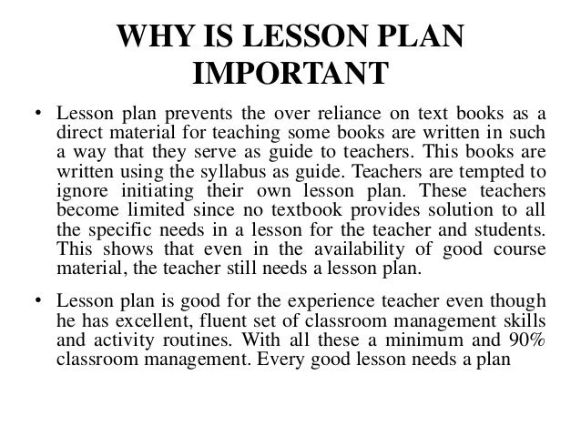 Why Is It Important To Have A Lesson Plan | Importance Of Lesson Plan