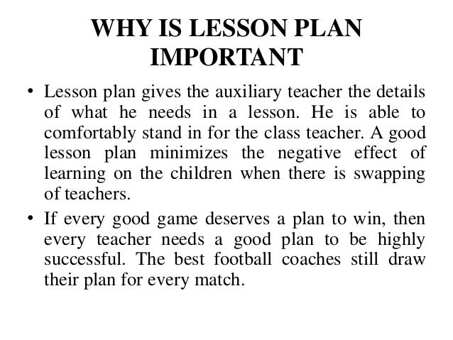 Attractive Every Good Lesson Needs A Plan; 6. Good Ideas