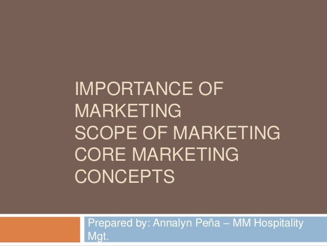 importance of marketing concepts to small E-marketing - a literature review from a small regardless of the high importance of small business - the nature of the e-marketing concept.