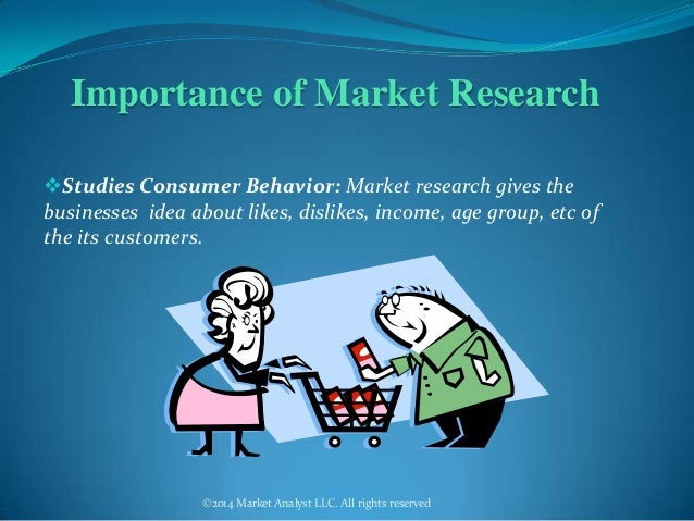 importance of market research to business The term marketing covers a lot of different activities -- all associated with selling your company's products and services advertising is the most obvious marketing activity, but so is consumer research, which better matches your product to consumer wants and needs product design, also, is a.