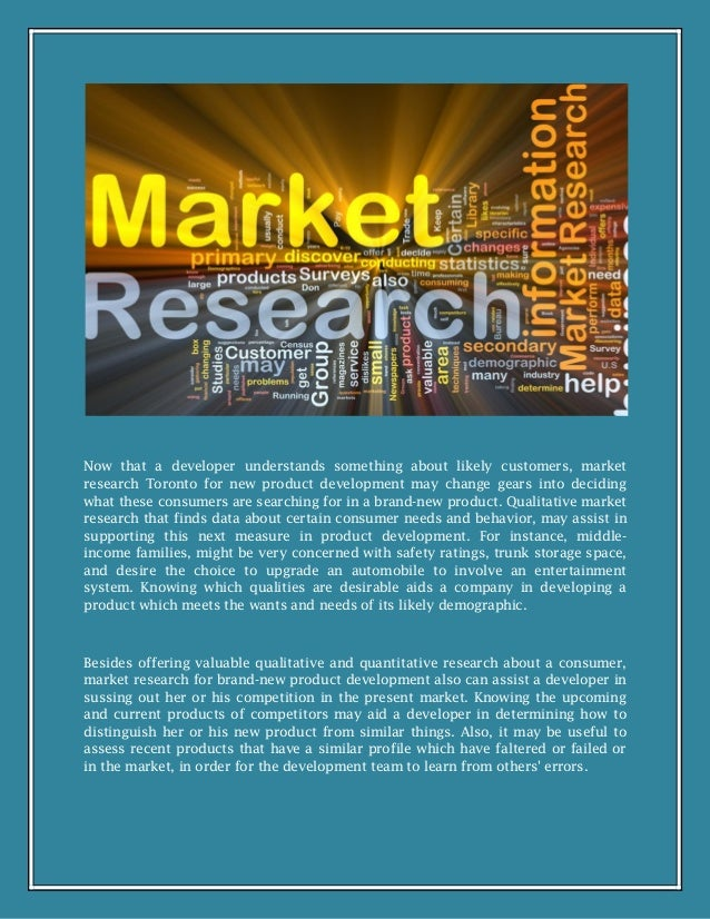 market research for a new product Marketing research, including problem definition the corresponding research problem might be to assess whether the market would accept the new product.