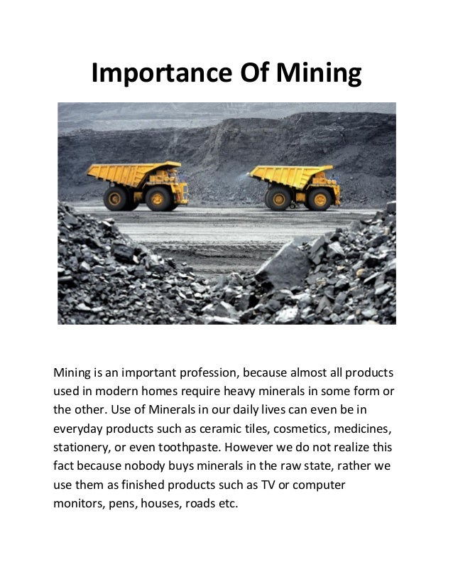 an analysis of the importance of mining in canada Canada s4s 0a2 e-mail:jtyao@cs of data mining, we may apply sensitivity analysis to find we use the following example to show the importance of interesting.