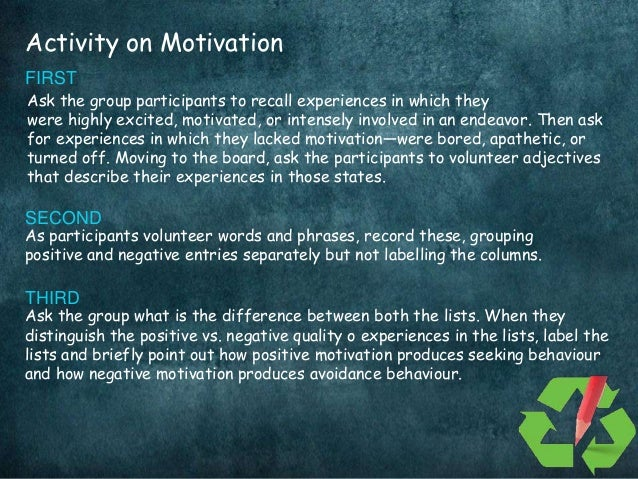 what is motivation importance of motivation Advertisements: the term 'motivation' has been derived from the word 'motive' motive may be defined as an inner state of our mind that activates and directs.