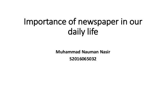 importance of reading newspaper for students