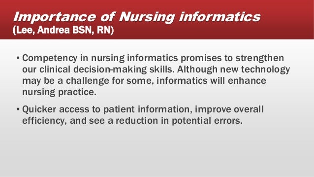 Importance of Nursing Informatics in the Health Care ...