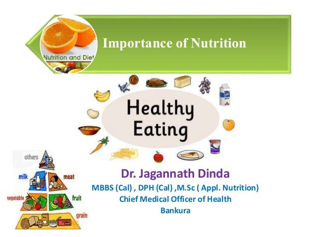 the importance of nutrition in ones life Here are some of the reasons that show us the importance of nutrition to our health - no matter what their current level of fitness level.