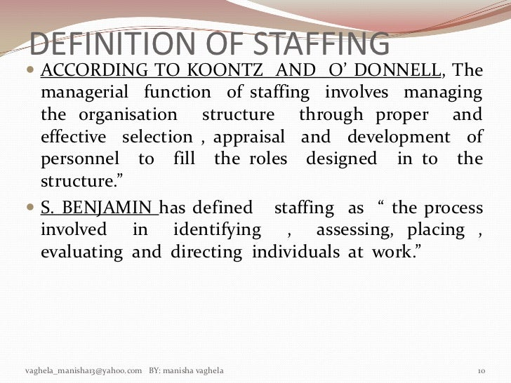 the importance of staffing