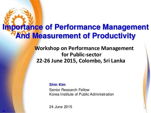 Productivity public administration