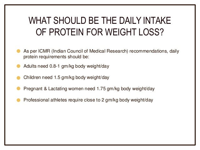 daily protein requirements for weight loss
