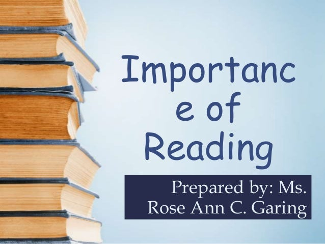 importance of reading powerpoint finished one