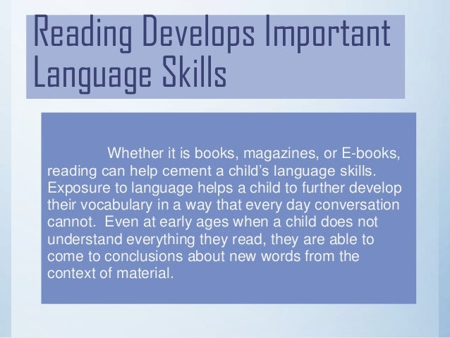 Importance of reading (powerpoint) finished one