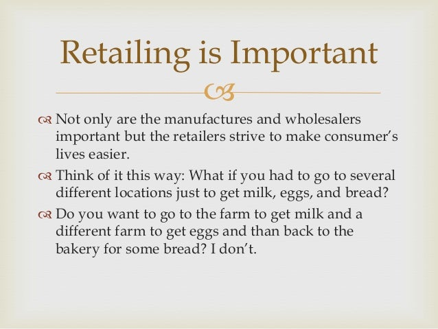 importance of retailing