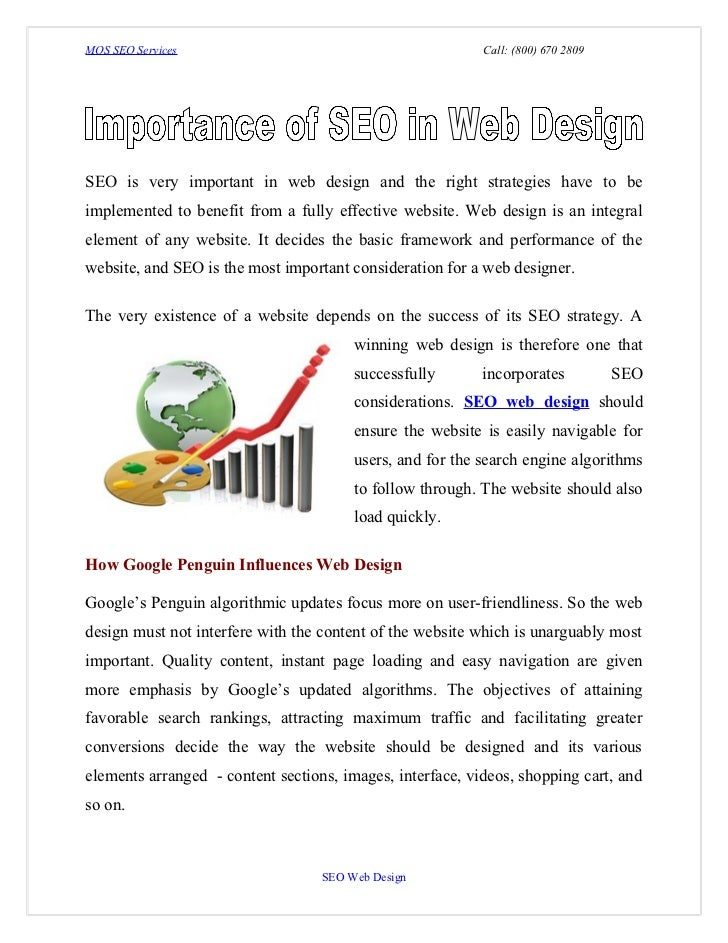 MOS SEO Services                                           Call: (800) 670 2809SEO is very important in web design and the...